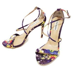 🔥Steve Madden strappy multicolored sexy heels👠